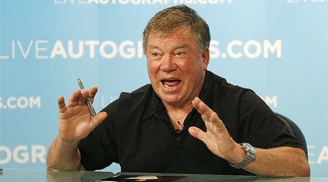 william shatner age. William Shatner signs off on