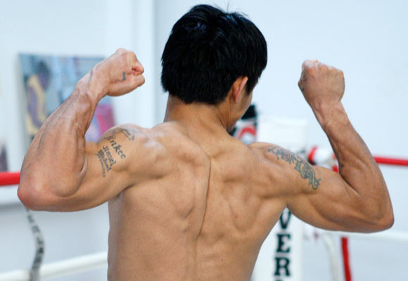 Junior welterweight boxer Manny Pacquiao