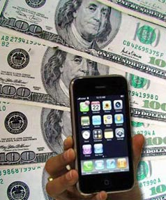 Iphone and greenback