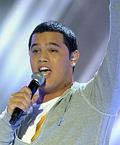 READ THE FINE PRINT: The tattoo on Stan Walker's  neck says