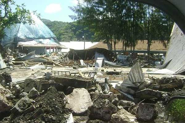 Homes have been turned to rubble