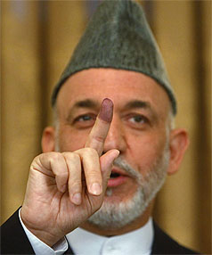 NEW ELECTION: Karzai is almost certain to win the run-off but the level of mass fraud alleged in the first round will inevitably cast a shadow over the new vote.