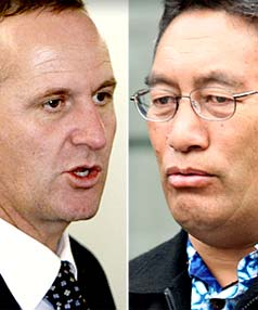 John Key and Hone Harawira