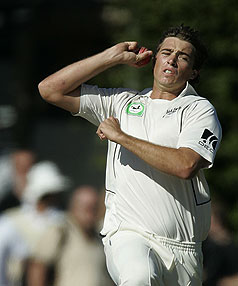 IN THE SWING: Tim Southee wants to force his way back into the Black Caps test side.