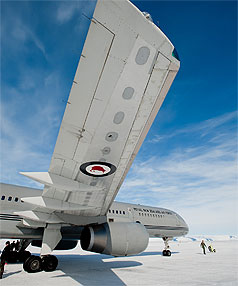 RNZAF jet lands on ice