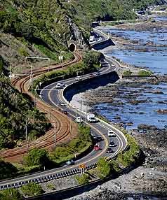 NO GO: An upgrade to the existing coastal highway was deemed to be more expensive, prone to earthquakes and would take longer to build.