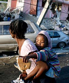 Haiti earthquake destruction