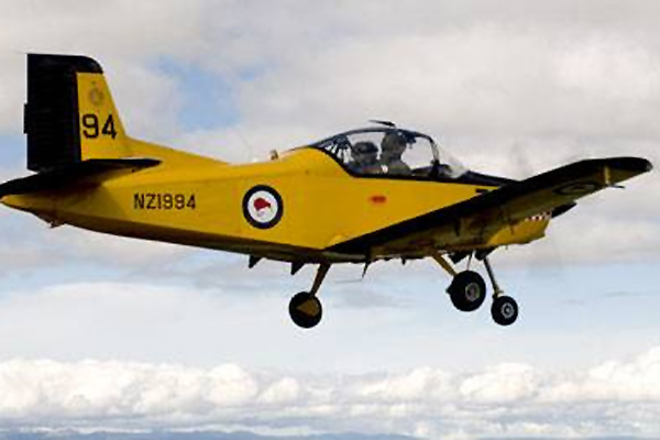 AIR FORCE PLANE: A CT4 Airtrainer, similar to the plane which crashed this morning.