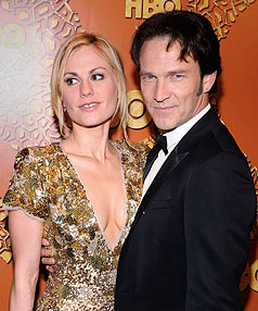 Anna Paquin refused to answer personal details about her love life with Stephen Moyer at the Golden Globe Awards.
