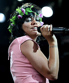 Lily Allen performs at the Big Day Out in New Zealand.