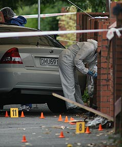 DEATH INVESTIGATED: Part of View Rd, Mt Eden, has been cordoned off.