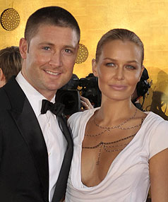 Australian vice captain Michael Clarke and Lara Bingle