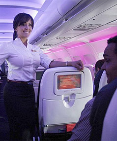 Flight attendant show slammed for sexism