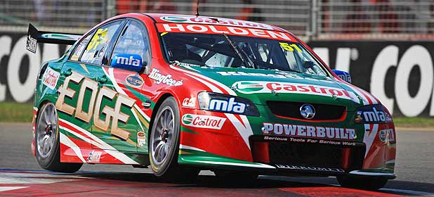 ... Murphy behind the wheel of his Holden Commodore in the V8 Supercars