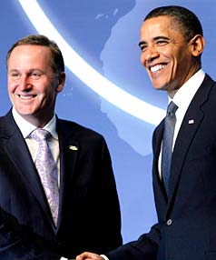 John Key and Barack Obama