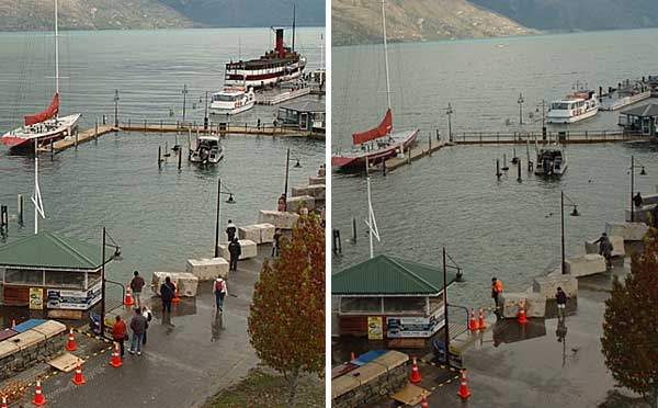 Flood level in Queenstown 2.30