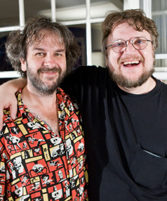 Sir Peter Jackson, left, and departing director Guillermo del Toro