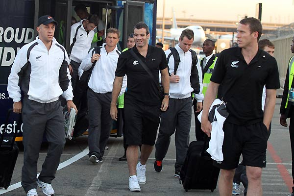All Whites arrive in South Africa