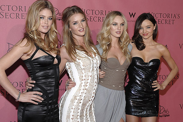 Doutzen Kroes, Rosie Huntington-Whiteley, Candice Swanepoel and Miranda Kerr