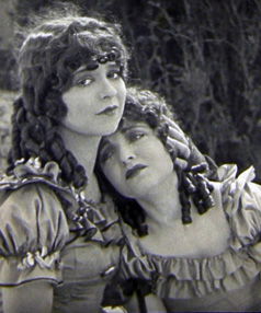 Clara Bow, left, and Ethel Shannon in Maytime