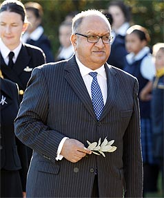 VICE-REGAL SALARY: The current governor-general, Sir Anand Satyanand, is paid $1