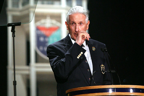 Sir Bob Charles at his induction to the World Golf Hall of Fame in Florida in 2008.