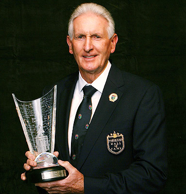 Sir Bob Charles at his induction to the World Golf Hall of Fam