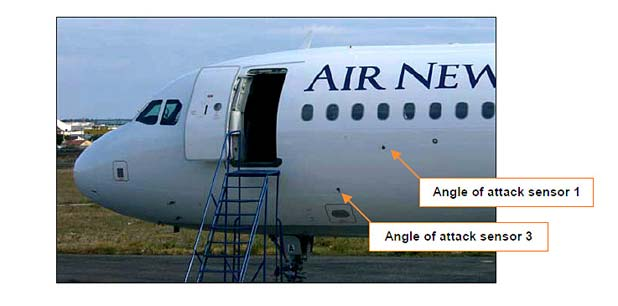 Airbus sensors implicated in Air NZ crash
