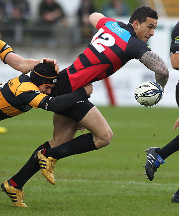 TRAMPLED: Sonny Bill Williams looks to pass.