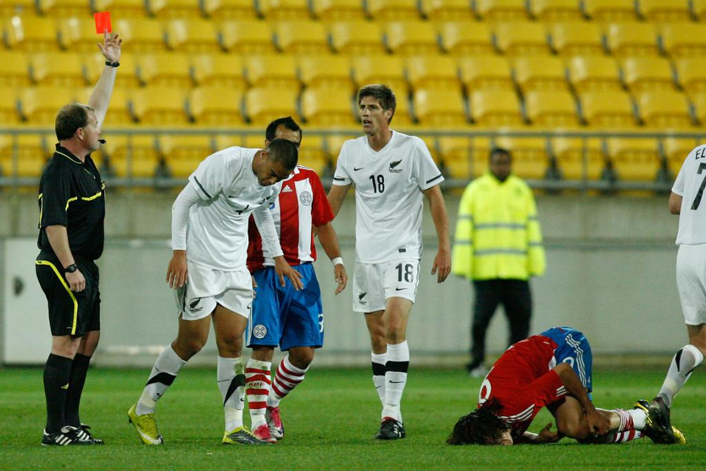 All Whites v Paraguay at Westpac Stadium