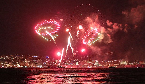 The Wellington fireworks were expected to draw crowds of 100,000 to 200,000.