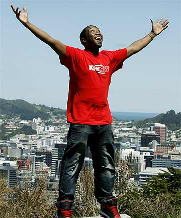 NEW START: Singer T K Paradza, 25, grew up in Zimbabwe, ranked the worst country on the planet by a new United Nations report.