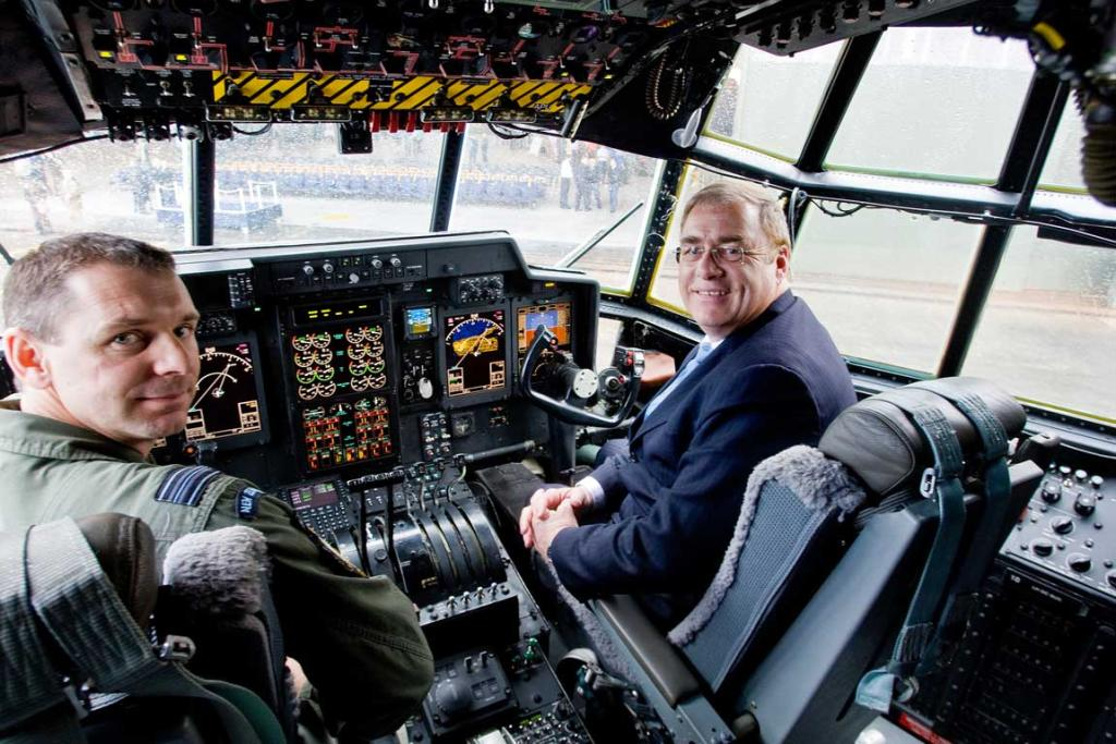 Wayne Mapp in cockpit.