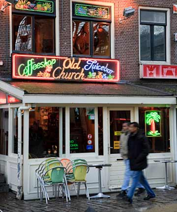 TOURIST ATTRACTION: Coffee Shop in the Red Light District.