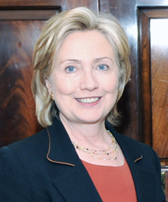 HEAD GIRL: Hillary Rodham Clinton has topped the list of Americans' most admired women for the ninth year in a row.