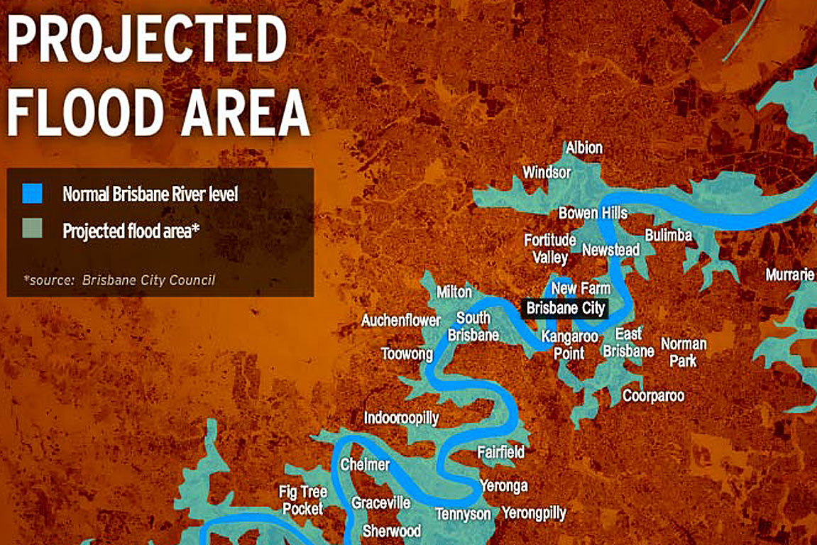 Flood area map