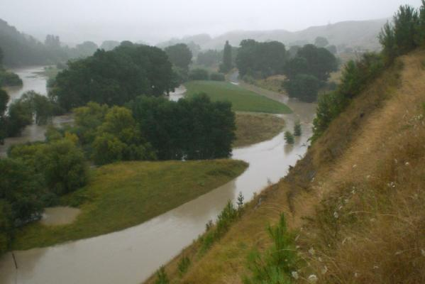 WAIAU RIVER: Its banks have been well and truly breached.