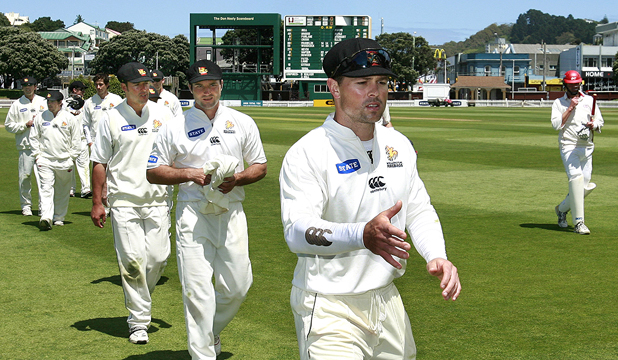 THAT'S ALL, THANKS: Matthew Bell, leading Wellington off the field during his stint at provincial captain, says he shared ``a lot of emotion, a lot of good and bad times'' with his team-mates during his 17-year first-class career, which  included 18 test matches.