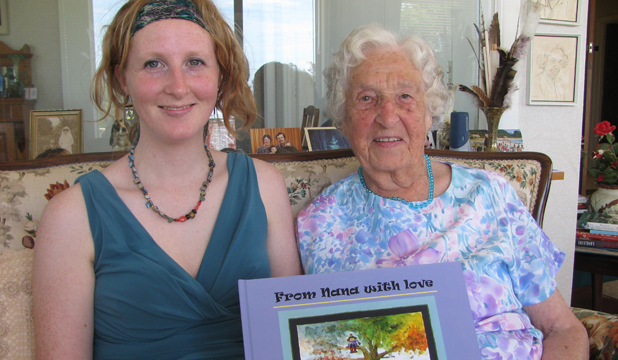 WITH LOVE: Una Woodcock, 95, is releasing a book of poems dedicated to her