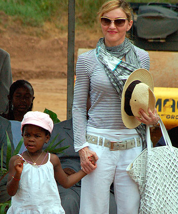Mercy James and Madonna