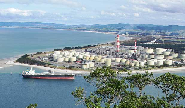 OIL REFINERY: New Zealand Refining Company is planning to extend its Marsden Pt complex, near Whangarei, in Northland.