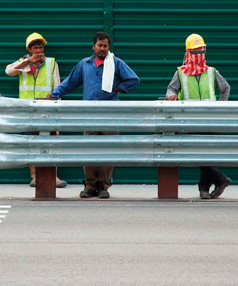 Workers in Singapore