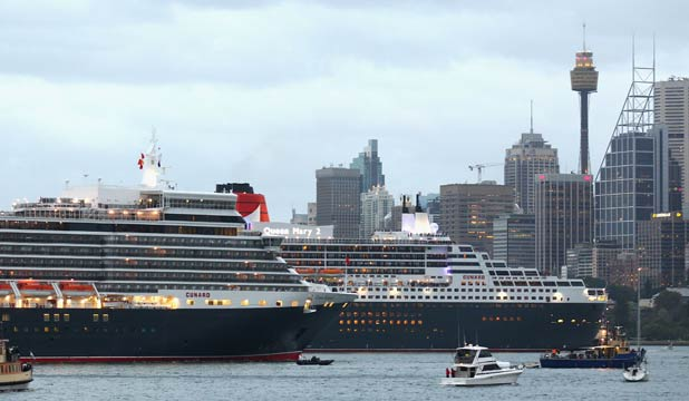 Royal rendezvous for Cunard liners
