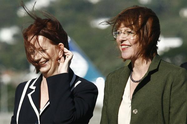 Julia Gillard and Celia Wade-Brown