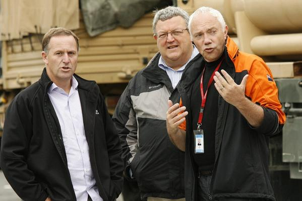 John Key, Gerry Brownlee and Bob Parker