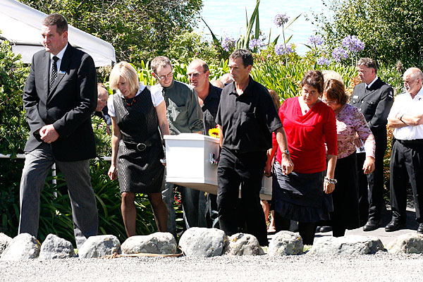 Christchurch earthquake victim Shane Tomlin's funeral