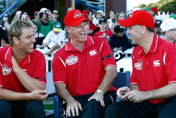 Shane Warne, Sir Richard Hadlee and John Key