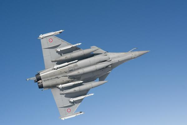 A French Rafale fighter jet, with ordnance under its wings, makes its approach during the initial French attacks on Libya. On Sunday French warplanes encountered no opposition in enforcing a UN-mandated no-fly zone over Libya.