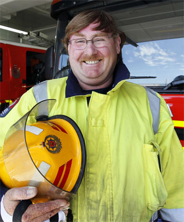 AMAZING RECOVERY: Firefighter Merv Neil has recovered sufficiently from his injuries to return to work.