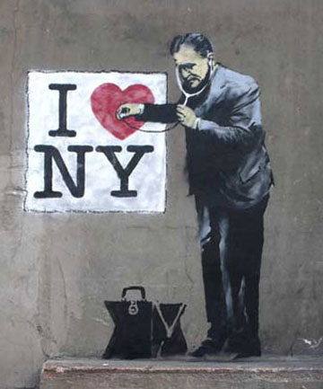 British graffiti artist Banksy